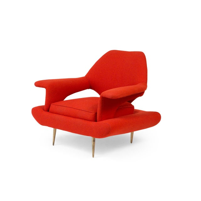 Mid-Century Modern Sculptural Large Mid-Century Italian Lounge Chairs - a Pair For Sale - Image 3 of 10