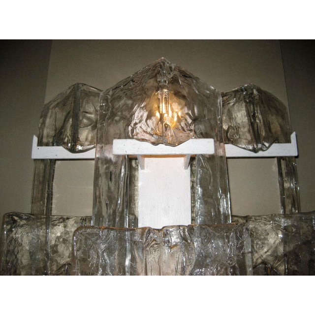 Modern Pair of Mazzega Large Glass Sconces For Sale - Image 3 of 5
