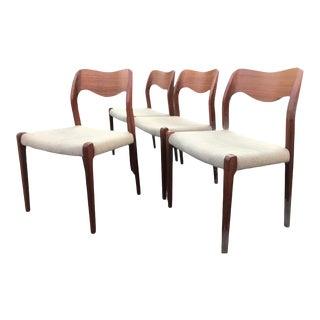 Mid Century Modern Moller Danish Teak Dining Chairs - Set of 4 For Sale