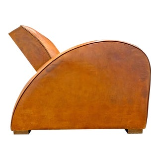 French Art Deco Race Car Club Chair For Sale