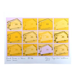 "Suga Lane ""Ranch Houses"" in Yellow Artist's Proof"