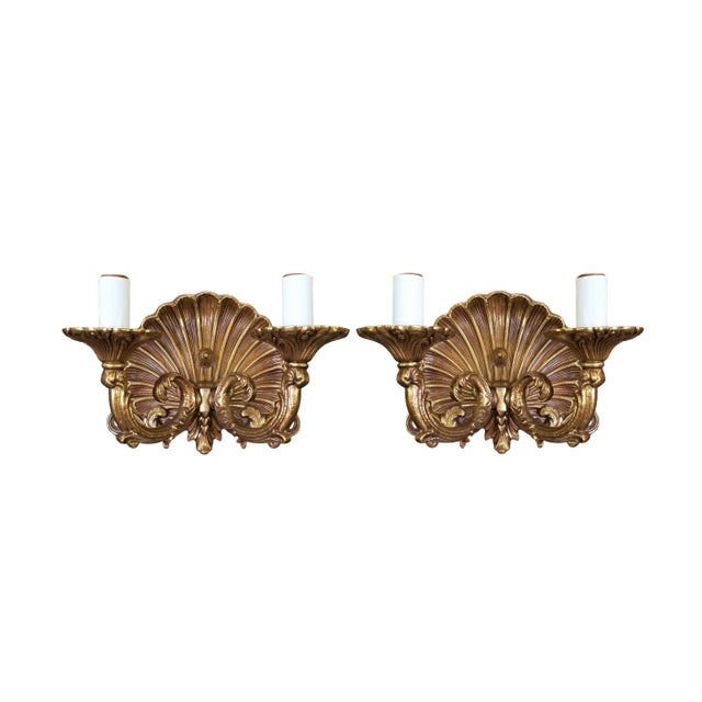 Brass Neo-Rococo Spanish Sconces, a Pair For Sale - Image 7 of 7