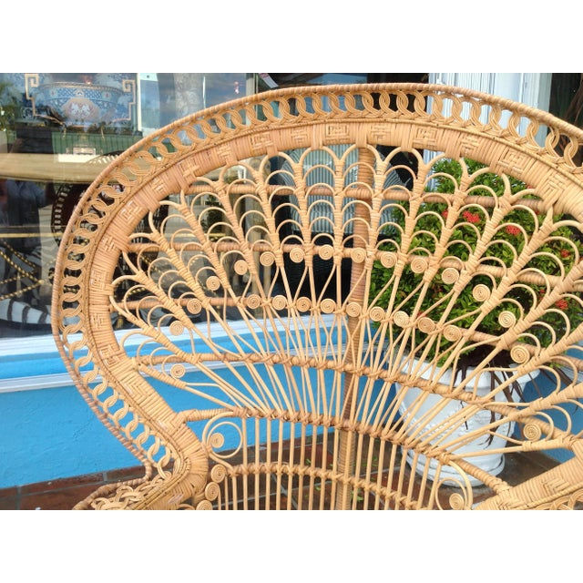"""""""Emmanuelle"""" Style """"Peacock"""" Chair For Sale - Image 9 of 11"""