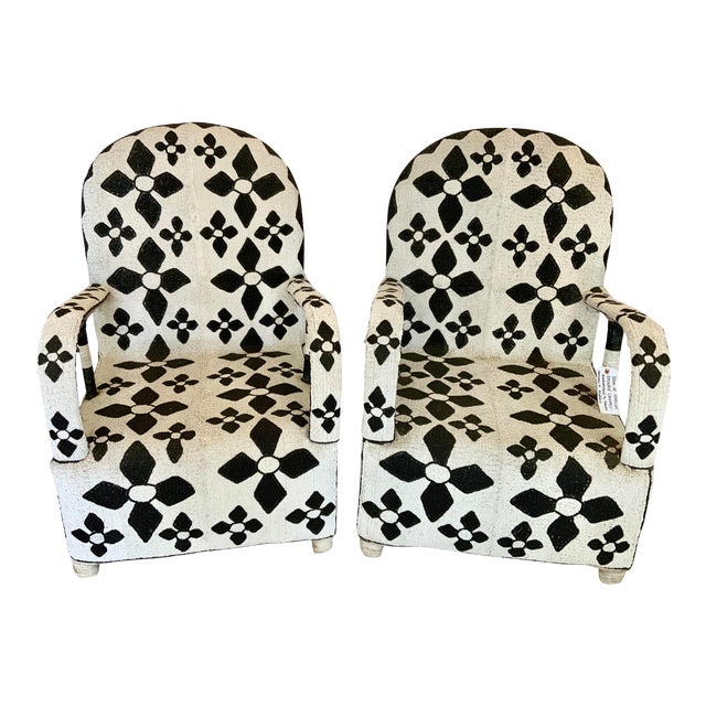 African Beaded Nobility Chairs Handcrafted by Yoruba Artisans - a Pair For Sale