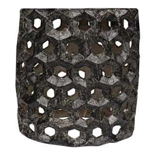 Joan Cement Black Fiber Stool For Sale