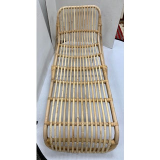 Mid Century Bamboo Rattan Chaise Lounge Chair Preview