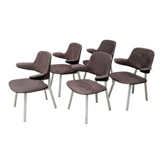 Mid-Century Modern Shaw Walker Aluminum Arm Chairs - Set of 5