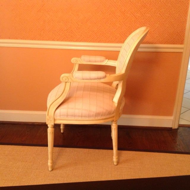 Louis XVI Style Chairs - A Pair - Image 3 of 7