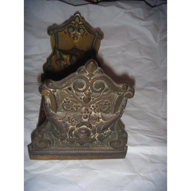 Victorian Expandable Ornate Brass Bookends - Image 6 of 11