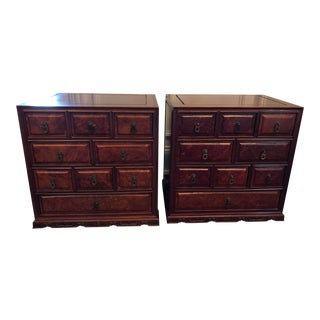Mid 20th Century Chinoiserie Rosewood Chests-a Pair For Sale