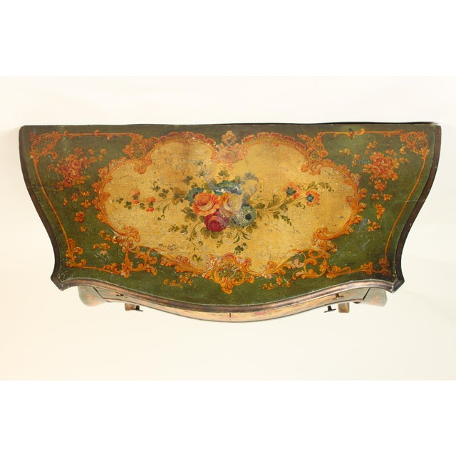 Italian Louis XV Style Painted Commode For Sale - Image 9 of 12