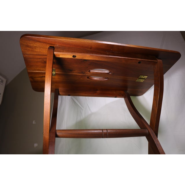 1980s Vintage Southwestern Wood Folding Table For Sale In New York - Image 6 of 11