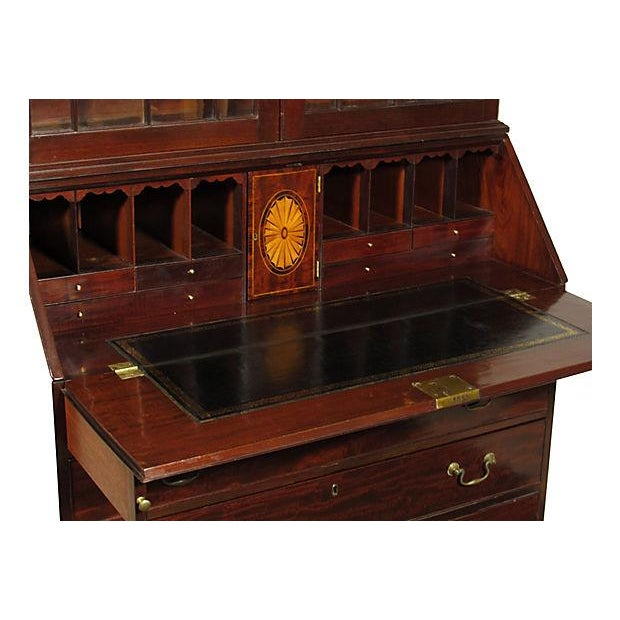 18th Century George III Mahogany Bureau Secretary For Sale - Image 4 of 7