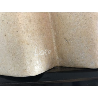 """1970s Vintage Lora Ross """"The Lovers"""" Brutalist Limestone Signed Sculpture Preview"""