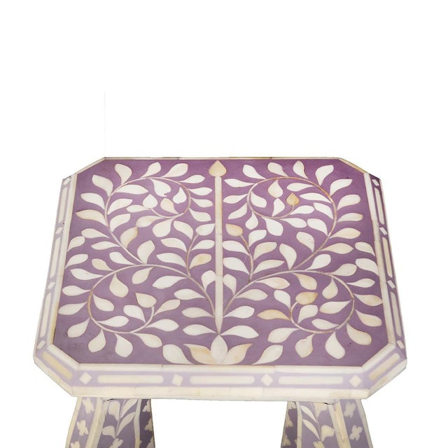 Imperial Beauty Telephone Table in Lilac/White For Sale - Image 4 of 5