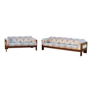 1970s Mid Century Italian Sofa & Loveseat For Sale
