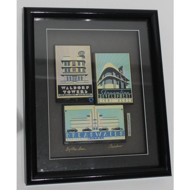 """""""By the Sea"""" Collage Streamline Re-Development of Art Deco Architecture Miami Beach by Fischer For Sale - Image 10 of 11"""