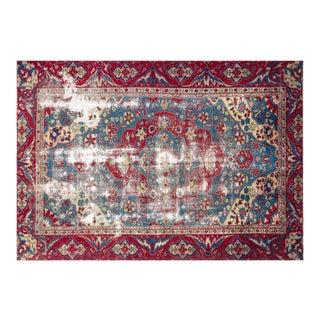 Turkish Anatolian Red/Baby Blue 7'3'' X 10'2'' For Sale