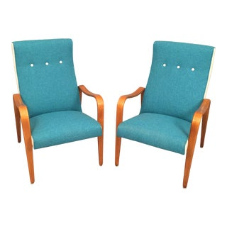 A Pair of Thonet Bentwood Lounge Chairs