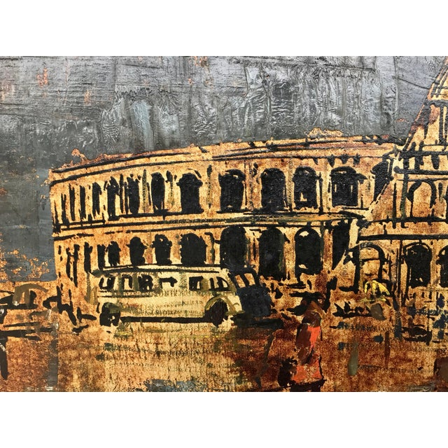 Mid 20th Century Vintage Mid-Century Roman Colosseum Painting For Sale - Image 5 of 7