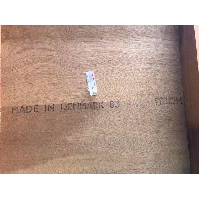 Vintage Mid Century Danish Modern Teak Side Table by Trioh Mobler Denmark For Sale - Image 10 of 11