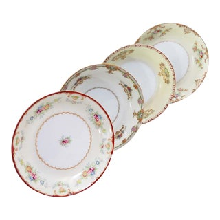 Vintage Mismatched Fine China Soup Bowls - Set of 4