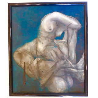 Mid-Century Nude Oil Painting For Sale