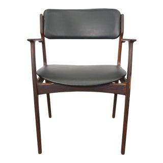 Mid Century Modern Erik Buck Rosewood Desk Chair - Model 49 For Sale