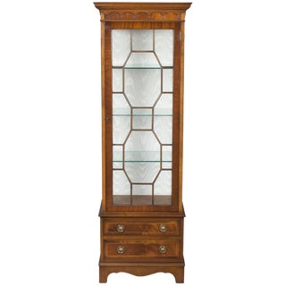Tall Narrow Mahogany Display Cabinet