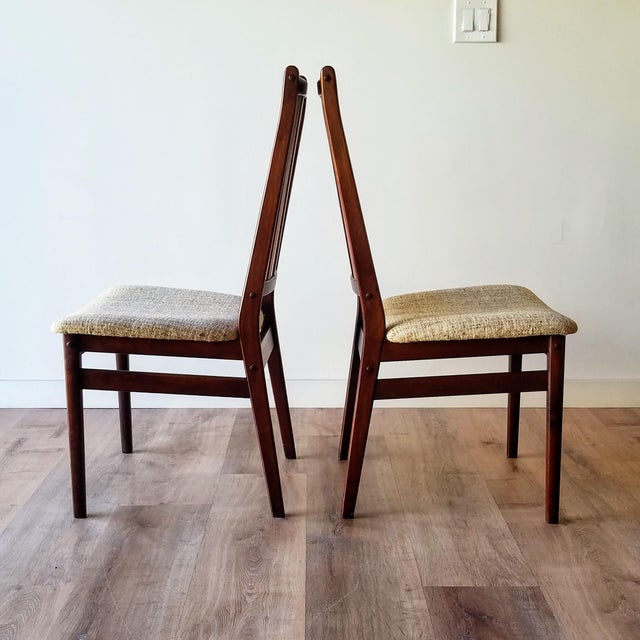 Mid-Century Modern Danish Mid-Century Modern High Back Dining Chairs - Set of 8 For Sale - Image 3 of 13