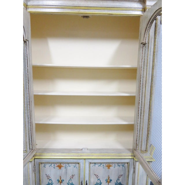 Mid 20th Century Italian Painted Decorated Bookcase For Sale - Image 5 of 9