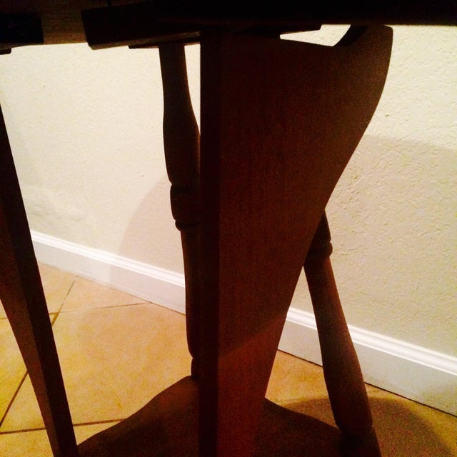 Antique Gate Leg Side Table - Image 6 of 8