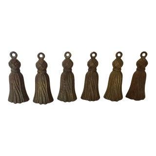 Italian Brass Tassels - Set of 6