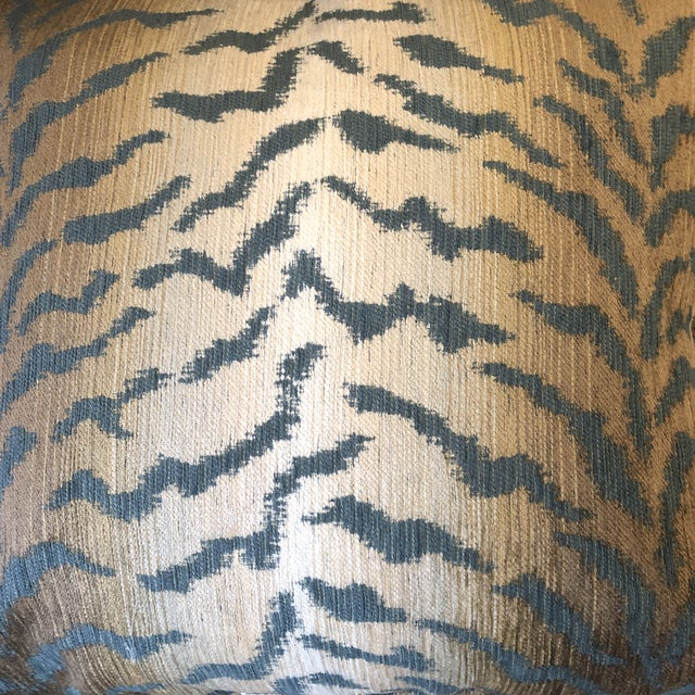 """Jade Tiger Chenille 22"""" Pillows-A Pair For Sale In Greensboro - Image 6 of 7"""