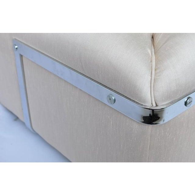 1970s Chrome Frame Sofa For Sale - Image 4 of 6