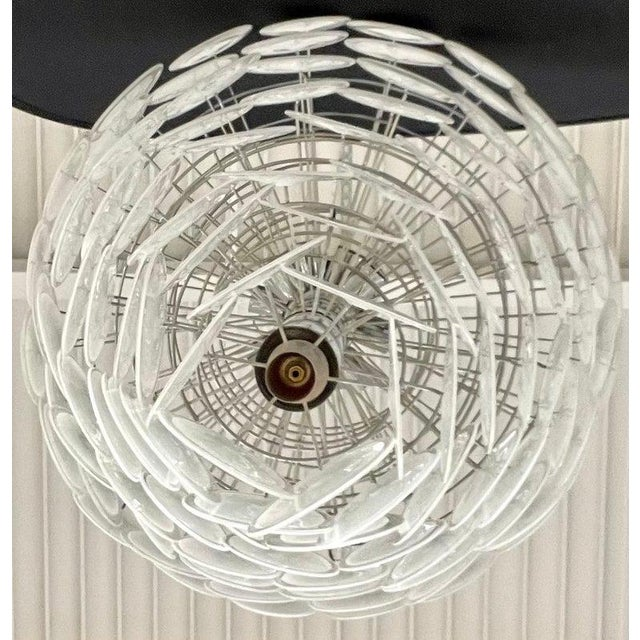 Pair of Mid-Century Modern Style Murano Glass Chandelier For Sale - Image 9 of 10
