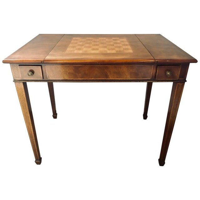 Mahogany Federal Style Smith and Watson Game / Card Table For Sale - Image 13 of 13