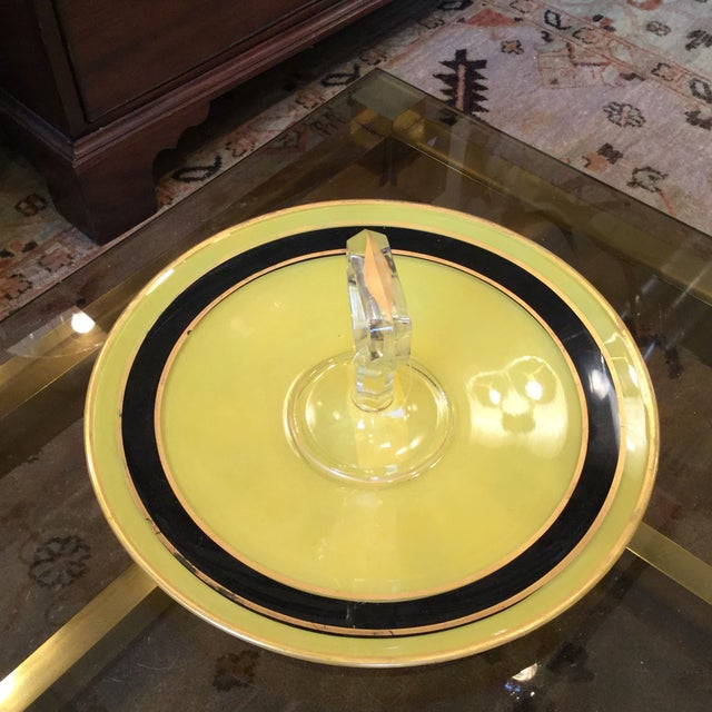 Yellow and Black Art Deco Serving Dish - Image 6 of 8