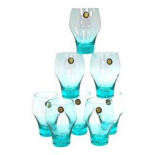 Midcentury Sasaki Japanese Glasses, Set of 8