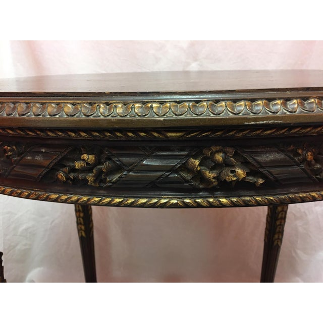 French Mahogany Oval Table With Gold Painted Ormolu, Early 20th Century For Sale In Savannah - Image 6 of 8