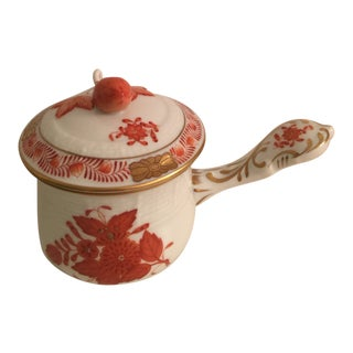 "1980s Herend ""Chinese Bouquet"" Bon Bon Container For Sale"