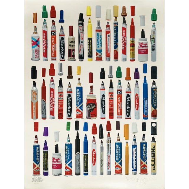 """Contemporary Limited Edition Art Print """"Tools of Criminal Mischief: Markers Edition"""" by Roger Gastman For Sale - Image 12 of 12"""