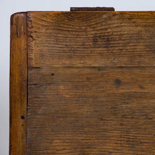 19th Century Antique Painted Trunk For Sale - Image 9 of 10