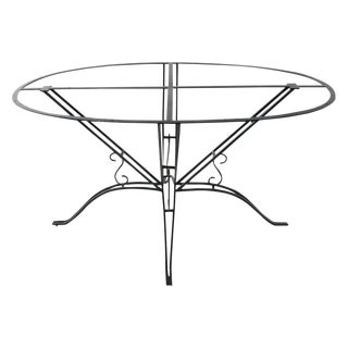 1920s Wrought Iron Garden Table For Sale