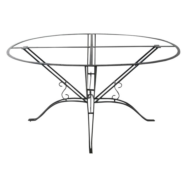 4d0d77d80f0fe 1920s Wrought Iron Garden Table For Sale