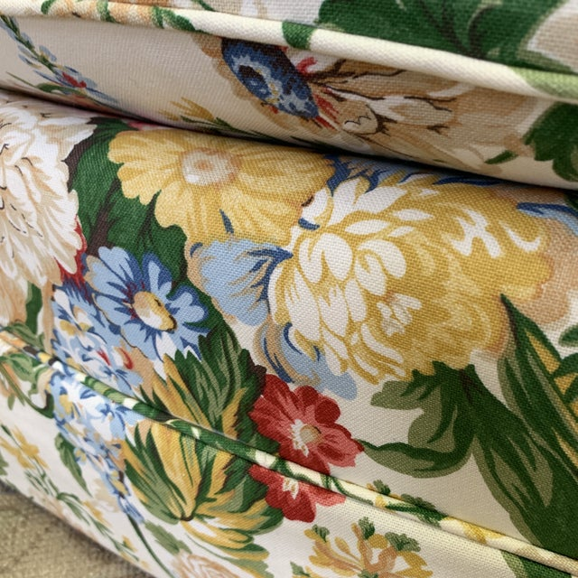 Floral Club Chair - New Upholstery (Vintage Fabric) For Sale - Image 11 of 13