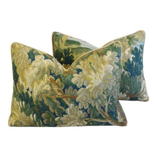 "Cowtan & Tout Floral Tapestry Botanical Richmond Feather/Down Pillows 24"" X 18"" - Pair For Sale"