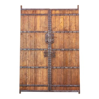 Antique Chinese Warehouse Doors - a Pair For Sale