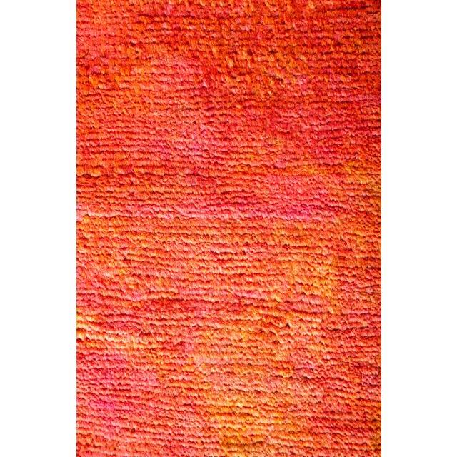 Modern Orange Runner Rug For Sale - Image 3 of 4