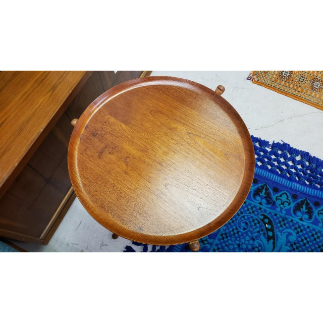 1950s Swedish Ary Fanerprodukter Nybro Teak Tray Table For Sale In Baltimore - Image 6 of 8